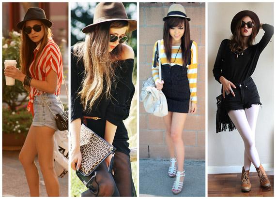 Chapéu Fedora em garotas